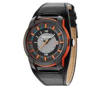 POLICE Herren-Armbanduhr APOLLO Analog Quarz Leder P14438JPOB-13
