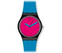 Unisex-Armbanduhr Gent Bicoloured Analog Plastik Cobalt'n Pink GB269