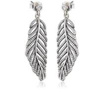 Damen-Ohrhänger Funkelnde Feder 925 Silber Zirkonia weiß - 290584CZ