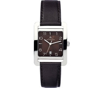 5th Avenue Frauen Quarz-Uhr mit Braun Zifferblatt Analog-Anzeige und braunem Lederband 14237/48MA