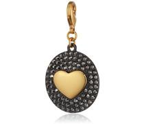 Jewelry Damen-Anhänger Messing  Damen-Anhänger aus der Serie Mega Charm vergoldet,grau 5.0 cm 411332101
