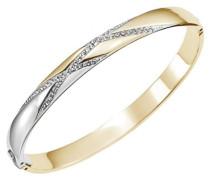 Damen-D11065DSZ-Zeilen-Armband Edelstahl Zirkonia Weiß