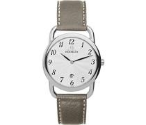 Equinox Men' Herren-Armbanduhr Disciplin Analog Quarz Leder Beige, 194 (DE) TA 67/28