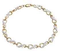 Damen-Armband 9 Karat Gelbgold PavéFassung, Diamant PBC02096Y