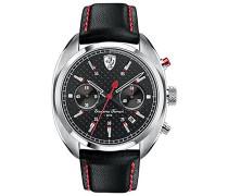 Ferrari Herren-Armbanduhr HFORMULAR SPORTIVA Chrono Analog Quarz Leder 0830239