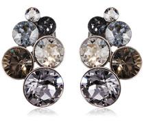 Konplott Damen-Ohrstecker Petit Glamour Messing Glas grau - 5450543302515