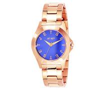 Jet-Set-J5979R 332-Bright Damen-Armbanduhr Alyce Quarz analog Armband Stahl, blau