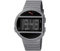 Herren-Armbanduhr Half Time- L Grey Digital Quarz Plastik PU910891002