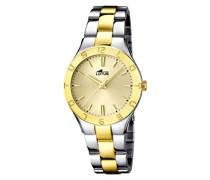 Damen-Armbanduhr XS Analog Quarz Edelstahl 15896/1