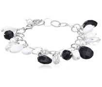 Damen Armband 925 Sterling Silber Schwarz