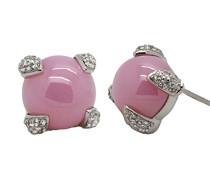 Damen-Ohrstecker 925 Sterling Silber rhodiniert Zirkonia pink ZO-5565
