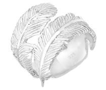 Elli Damen-Ring Feder Trendsymbol 925 Silber Ringgröße verstellbar größenverstellbar - 06400842_54
