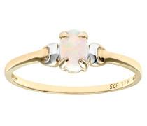 Damen-Ring 9 K Bicolor Opal