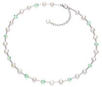 V & Co Süßwasserperle Kristall lang 41.5- Mint Halskette 47 cm