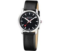 Mondaine Unisex-Armbanduhr SBB Simply Elegant 36mm Analog Quarz A400.30351.14SBB
