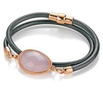Damen-Armband Edelstahl Kristall rosa 38 cm - 191063117380