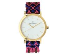 Maya Toywatch Women'Quarz-Uhr mit weißem Zifferblatt Analog-Anzeige und - 0.94.0056 MY02GD) Pink