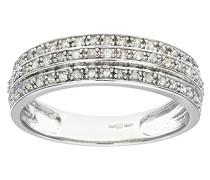 Damen-Ring 9 K Weißgold Diamant 0,25 ct