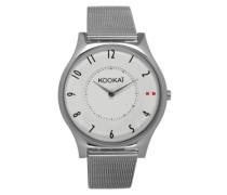 KO - 047/BM Damen-Armbanduhr Alyce Quarz analog Stahl Silber