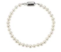 ZEEme Pearls Armband 19cm aus weissen Süßwasserzuchtperlen 380260014