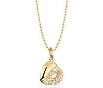 Damen-Halskette Silber vergoldet 45cm 015471429_45