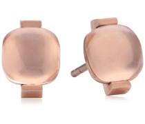 Damen-Ohrstecker Vergoldetes Metall Rosenquarz rosa 411923G0