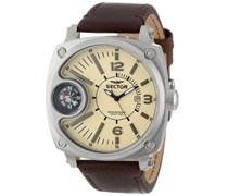 Sector Herren-Armbanduhr XL Compass Analog Quarz Nylon R3251207005