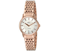 EDOX Damen-Armbanduhr LES BEMONTS -ULTRA SLIMM SWISS MOVEMENT Analog Quarz Edelstahl 57001 37RM AIR
