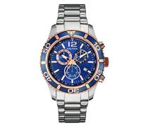 Herren-Armbanduhr Chronograph Quarz Edelstahl NAI18500G