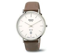 Boccia Herren-Armbanduhr Analog Quarz Leder 3589-01