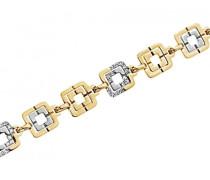 Damen-D51062DSZ, Krakau Damen-Armband Edelstahl Zirkonia Weiß
