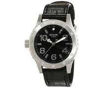 Nixon Damen-Armbanduhr 38-20 Leather Black Gator Analog Quarz Leder A4671886-00
