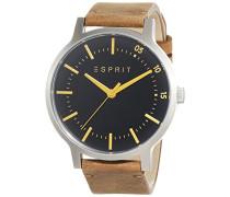 Herren-Armbanduhr Analog Quarz Leder ES108271001