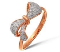 Damen-Ring 9 K Bicolorgold P1 Diamant 0,2 ct