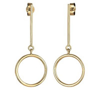 Damen-Ohrhänger Geo Kreis 925 Silber teilvergoldet - 0302370617