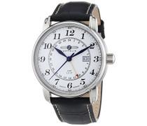 Herren-Armbanduhr XL LZ127 Graf Analog Quarz Leder 76421