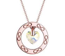 Premium Damen-Kette mit Anhänger Herz Infinity 925 Silber gelb Rundschliff 60 cm 0101382417_60