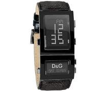 D&G Dolce&Gabbana Herren-Armbanduhr Analog Quarz Leder DW0360