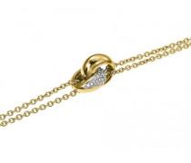 Damen-D51123DZ-Armband Edelstahl Zirkonia 19 cm