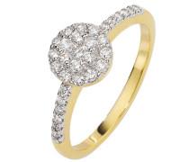 Damen-Ring Glamourfassung Gelb Gold 750 31 Diamanten 0,5 ct.