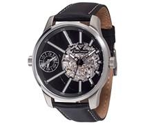 Yves Camani Herren-Armbanduhr Man Dual Time Analog Automatik YC1054-B