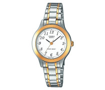 Casio - ltp-1263pg-7bef - Collection Damen-Armbanduhr 045J699 Analog weiß Armband Stahl Silber