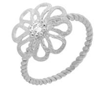 Damen-Ring 925 Sterling Silber Zirkonia weiß