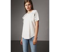 T-Shirt aus Baumwolljersey mit Rüschendetail