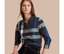 Baumwollbluse in Check