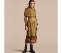 Makramee-kleid Mit Cape-Ärmeln