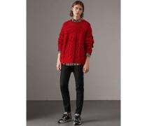 Pullover aus Kaschmir und Wolle in Aran-Strick