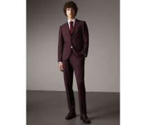 Körperbetonter Anzug aus Wolle und Mohair