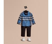 Hemd aus Baumwollflanell mit Check-Muster