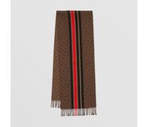 Schal aus Woll- und Baumwolljacquard